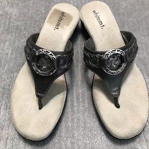 White Mountain Gray/Silver Sandals